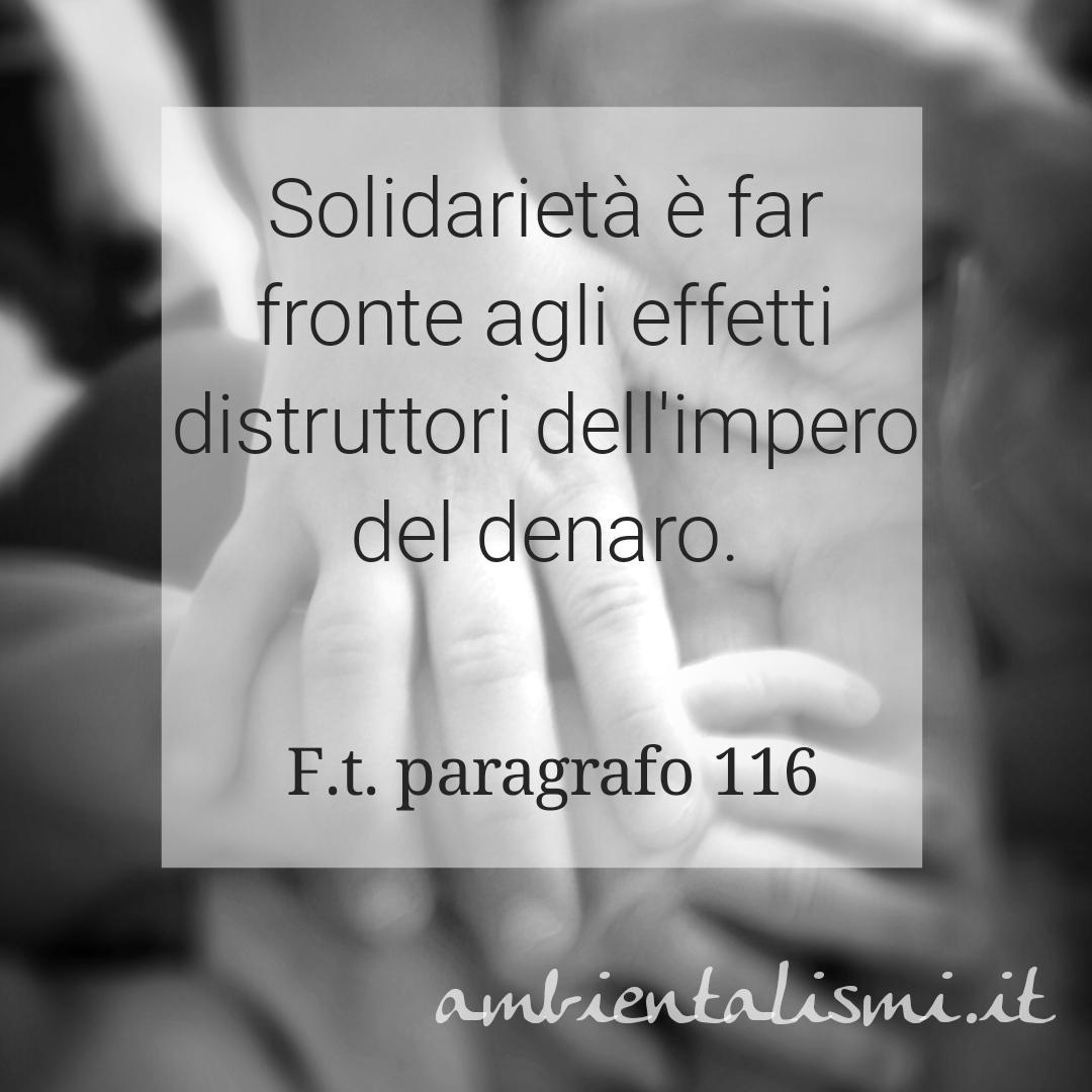La solidarietà contro la distruzione